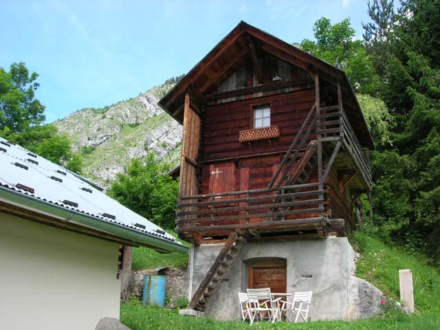 Un grenier authentique de ferme de montagne